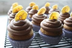 Banana Cupcakes with Peanut Butter-Chocolate Frosting