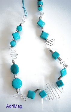 collier turquoise véritable perse
