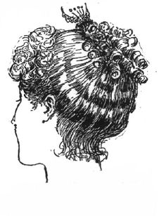 Vintage Victorian: 1890s Costume Accessories - high coiffure