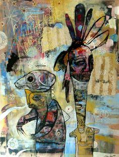 JESSE RENO http://www.widewalls.ch/artist/jesse-reno/ #contemporary #art #murals #outsiderart #painting