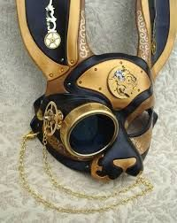 Image result for steampunk white rabbit mask