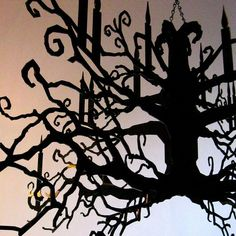 Tree Branch Chandelier by all things paper, via Flickr