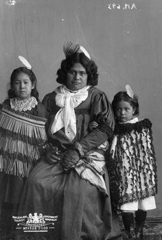 Object: [Maori woman and two children] | Collections Online - Museum of New Zealand Te Papa Tongarewa