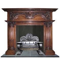 antique georgian mantel fireplace