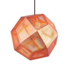Tom Dixon Etch Copper Shade Pendant at www.vertigohome.us