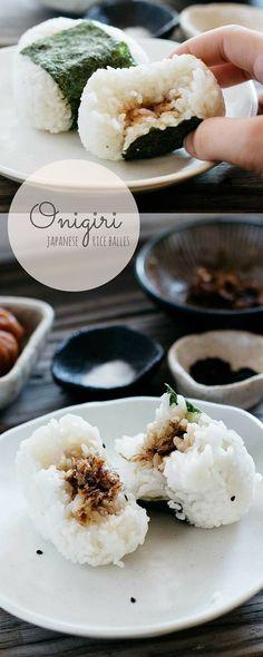 Japanese filled rice balls (AKA Onigiri)
