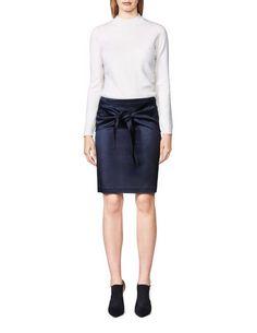Women's turtleneck pullover in wool. Slightly below hip length. Blind Stitch, Women's Skirts, Knitwear, Leather Skirt, Turtle Neck, Slim, Pullover, Sweatshirts, Fashion