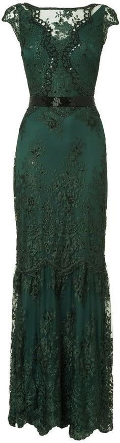 It's a dream dress: House of Fraser Phase Eight Cindy Green Lace and Sequin Long Dress Beautiful Gowns, Beautiful Outfits, Evening Dresses, Prom Dresses, Wearing Dresses, Green Evening Dress, Lace Dresses, Style Haute Couture, Mode Outfits