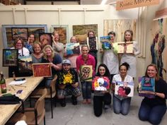 Everyone came in with an image that they wanted to hang up on their wall, then painted it using techniques they felt best for their unique piece. Fun with the outcome of personalized art!