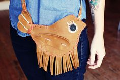 DIY Leather Bird Bag