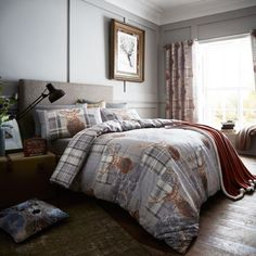 Buy the Catherine Lansfield Cosy Corner Heritage Stag Duvet Cover Set, Grey, King online at Linens Limited, FREE DELIVERY available.