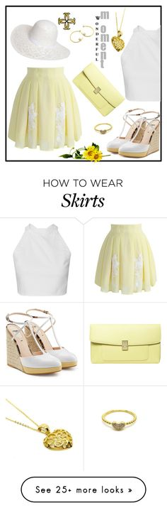 """Hats Contest"" by freida-adams on Polyvore featuring Chicwish, Dorothy Perkins, Fendi, white, yellow, Wedges, jewelry and donnaitaliana"
