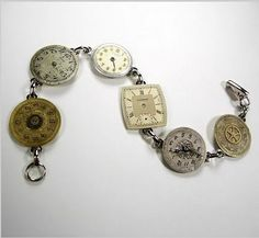 Recycled Watch Faces Jewelry