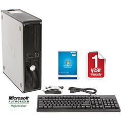 This Dell OptiPlex 755 desktop computer comes with an Intel Core 2 Duo 2.33GHz processor, 4GB of DDR2 memory, a 5000GB hard drive, DVD-RW optical drive, an integrated Ethernet LAN, and the Microsoft Windows 7 Professional 32-bit operating system.