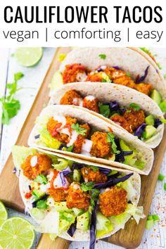 Bbq Cauliflower Wings, Vegan Cauliflower, Cauliflower Recipes, Mexican Food Recipes, Vegetarian Recipes, Cooking Recipes, Healthy Recipes, Vegetarian Mexican Food, Delicious Recipes