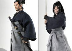 Dollsfigure 1/6 Gothic  Miyamoto Musashi CC207 Hairdo CC208 Hair Version for Action Figure DIY