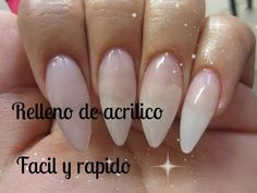 Cambio de set ( Como relleno mis uñas acrilicas) Fill up my acrylic nails / clear acrylic nails - YouTube