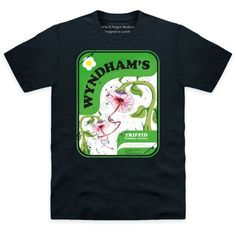9db5b410f Official Penguin Wyndham's The Day Of The Triffids Organic T Shirt, Mens,  Black,