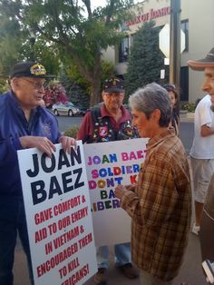What would you do if you found yourself standing face to face with people bearing signs accusing you by name of killing babies and encouraging the shooting of American soldiers?  Joan Baez in the 50th year of her career, continues to live according to unshakeable ideals of non-violence and compassion in ways that should inspire us all.