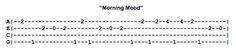 Morning Mood Ukulele Fingerpicking Pattern
