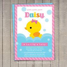 Pato bebé ducha invitación / invitación Rubber Duck por DreamyDuck