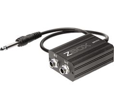 The MOTU ZBox matches the output impedance (Z) of your guitar to the impedance of a non-amp input, such as the mic/instrument preamp inputs on your audio interface.