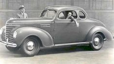 1939-Plymouth Coupe, 4 cylinders, gray. My first car looked exactly like this and cost me $100 when I was 15 years old.