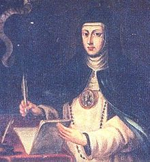 Mary of Jesus of Ágreda (Spanish: María de Jesús), OIC, also known as the Abbess of Ágreda (2 April 1602 – 24 May 1665), was a Franciscan abbess and spiritual writer, known especially for her extensive correspondence with King Philip IV of Spain and reports of her bilocation between Spain and its colonies in New Spain (now New Mexico and Texas). She was a noted mystic of her era.
