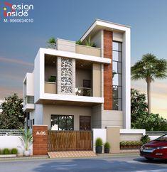 House Outer Design, House Outside Design, Unique House Design, House Front Design, Indian House Exterior Design, House Main Gates Design, Bungalow House Design, Modern Bungalow Exterior, Narrow House Designs