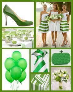 Kelly green wedding