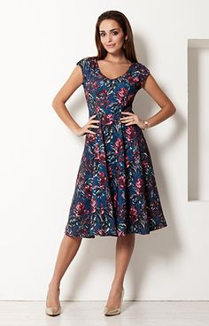 Olivia Dress (Tropical Nights) by Alie Street