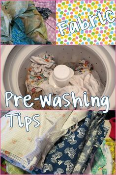 """Sewing Fabric Fabric Pre-Washing Tips :: All my tips on washing fabric before sewing :: Prevent the post washing """"monster knot"""". Quilting Tips, Quilting Tutorials, Sewing Tutorials, Sewing Patterns, Techniques Couture, Sewing Techniques, Fabric Crafts, Sewing Crafts, Sewing Projects For Beginners"""