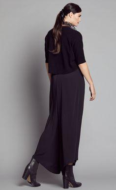 Black Wide Asymm Culotte - Nicola Waite