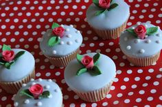 Cath Kidston inspired Cupcakes by Victoria's Kitchen, via Flickr