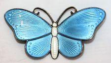 Vintage Sterling Norway Ivar Holt Holth Scandinavian Guilloche Enamel Butterfly sold for $71 on ebay.