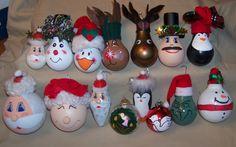 More Light Bulb Christmas Ornaments