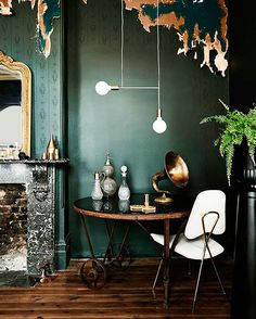 emerald green wall paper / sfgirlbybay