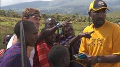 """Bopper and Mark get to Tanzania on """"The Amazing Race"""".  Read the story at http://www.ourtown.com/nky/article/2012/4/9/bopper-and-mark-meet-masai-warriors-in-tanzania.html"""