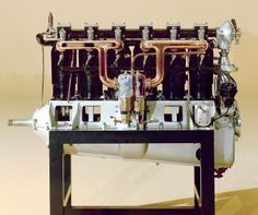 """The 160 hp Daimler-Mercedes D.III aero engine. This image is associated with the article:  """"A Short History of the Daimler-Mercedes D.III Motor"""" (by John Weatherseed) the highly successful D.III Motor that not only set the trend for future German inline motors but also influenced motors designed by Rolls-Royce and Liberty during the war. The D.III motor's principal components and elements are reviewed in detail, supplemented by numerous photographs. - www.OverTheFront.com"""