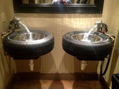 #Bathroom #Vanities - 9 DIY Reused Tire Projects | DIY Recycled                                                                                                                                                      More