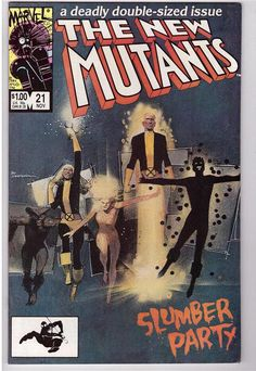 The New Mutants #21 Nov 1984 Marvel Comic Slumber Party Moonstar 1st App Mirage