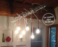 Un altro fai da te dei lettori sui lampadari: il lampatronco!