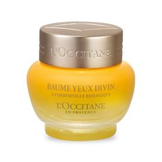 Browse unbiased reviews and compare prices for L'Occitane En Provence Divine Eye Balm. You really only need a tiny bit per application so even though the jar looks little it lasts quite a long time. It seemed to hydrate and moisturize my delicate and easily irritated eye areas really well and with no problems but I would use it as an overnight product. It's just a little to heavy to easily apply makeup over. It smells amazing! So good that I would buy it for that reason alone.