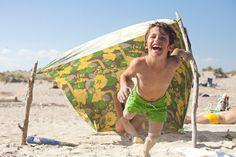Sheet Tent Canopies --Photographs from Fort Tilden Beach - NYTimes.com