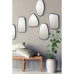 7 miroirs coordonnés au cadre en métal noir par @brostecph - Mur de miroirs  #deco_scandinave #salonscandinave #nordicdesign #homedecor