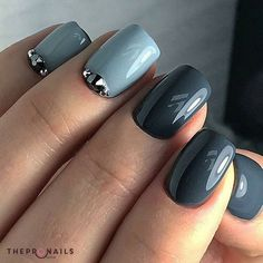How glossy they are <3 #glossy #nails #blue #pastel #manicure #inspiration
