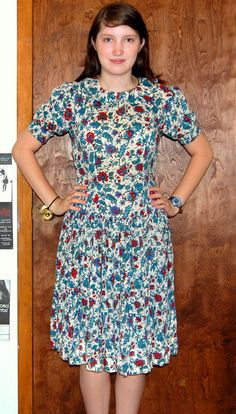 M Vintage 60s Collared Floral Dress by penguinyvintage on Etsy, $25.00
