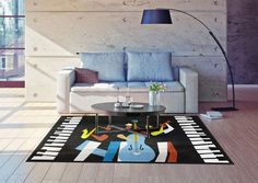 Enhance the décor of your living room with this amazing Jazz Music theme rug. Perfect for connoisseurs of jazz music, the rug is perfect to showcase your love for this genre. Available in bright colors, depicting various kinds of jazz music instruments, the rug can bring together the décor of your room, especially if it includes musical instruments, records, or photographs of your favorite artists, tying the different elements together.