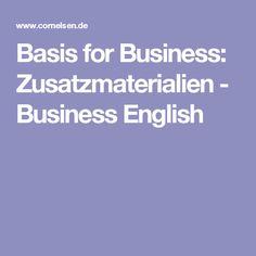 Basis for Business: Zusatzmaterialien - Business English