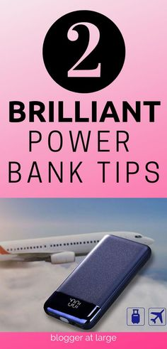How to travel with a power bank. 2 Brilliant tips for making travelling easier with a power bank. #powersource #powerbanktips #powerbank #cellphone #chargers #powerbankproducts #traveltips #travelideas #travelhacks #travelsafety